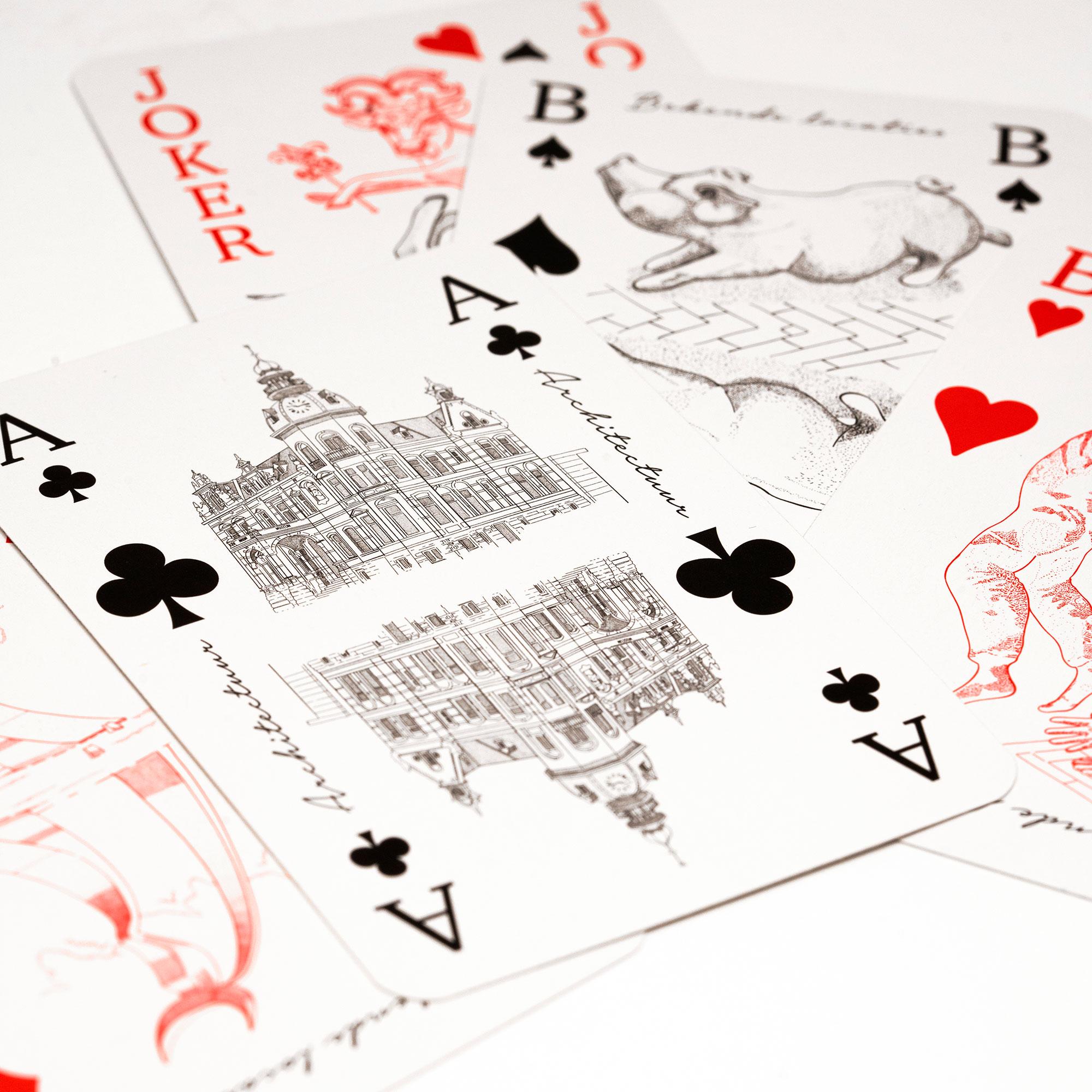 Osse producten, hart voor oss, stok van oss, kaarten, stok, speelkaarten