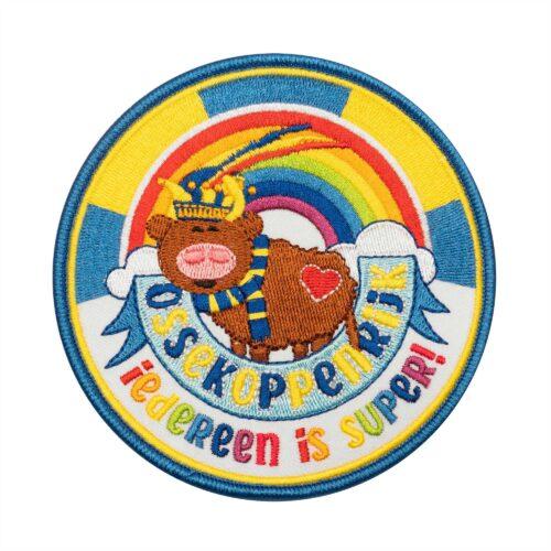 Osse producten, hart voor oss, carnaval, embleem, ossy, iedereen is super!, regenboog