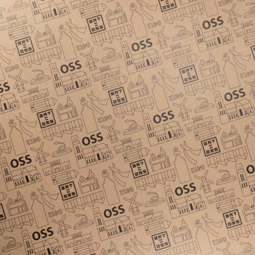 Osse producten, Hart voor oss, inpakpapier, kraft, papier, inpak, oss, cadeau, kado, vellen, rol, rollen, 50x70cm, 50 x 70 cm